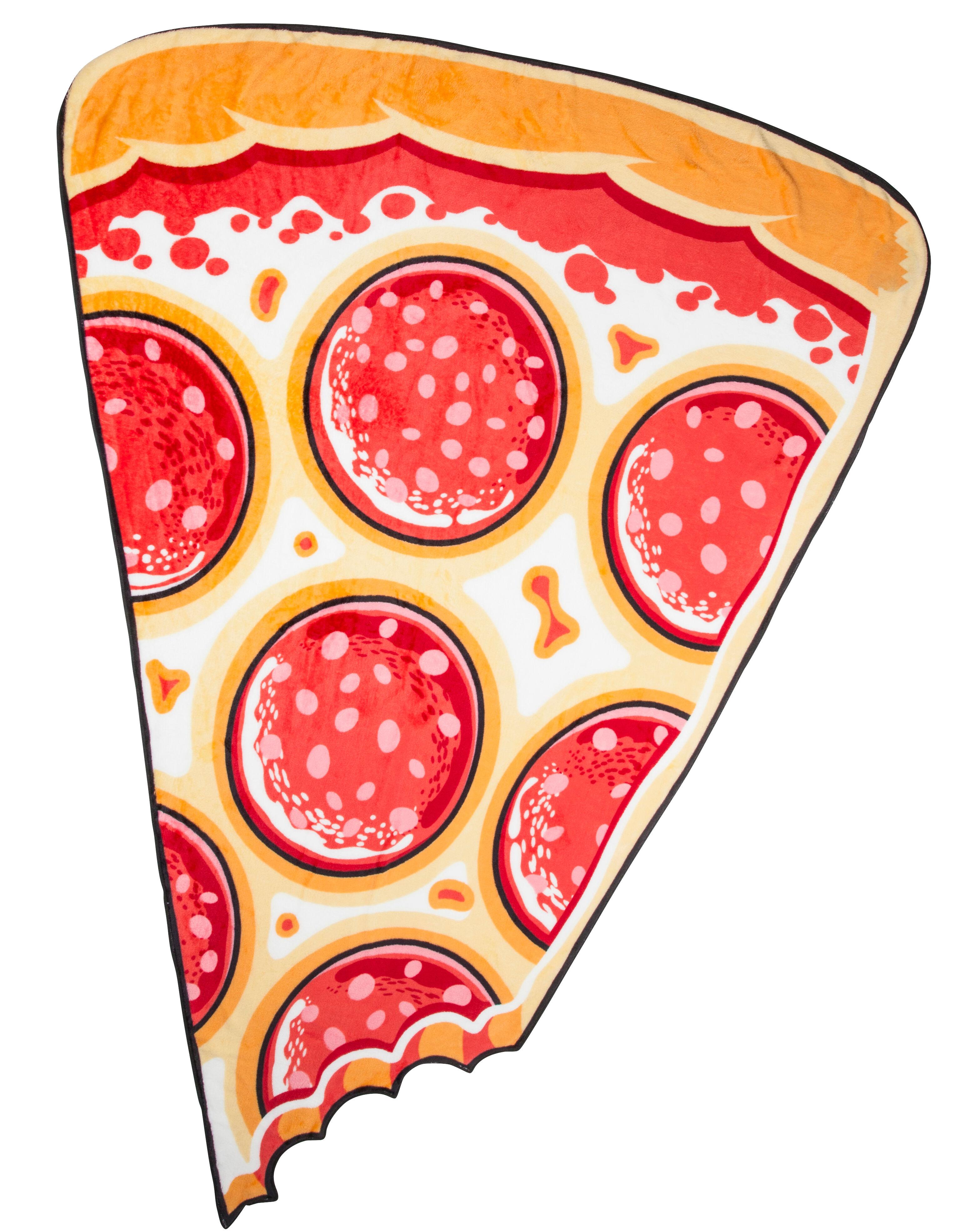 Mykt Pizzastykke Fleecepledd 150 cm