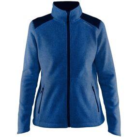 craft Noble Zip Jacket Heavy Knit Fleece Women - Darkblue
