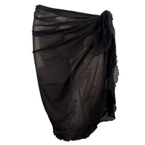 Damella Greta Basic Mesh Sarong - Black