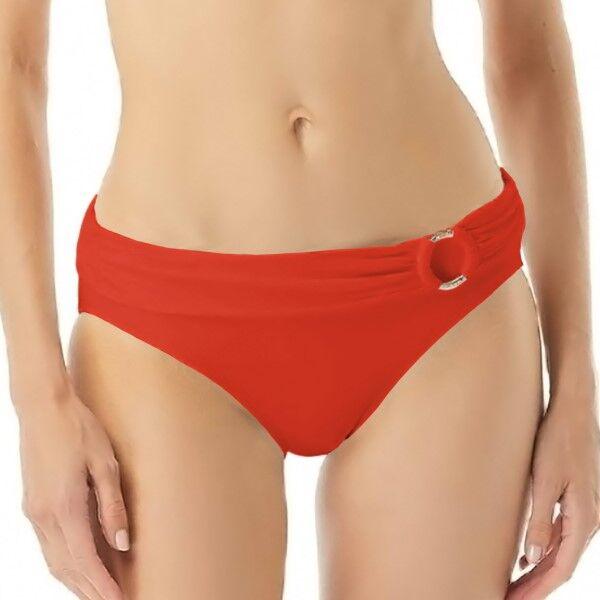 Michael Kors Iconic Solids Bikini Bottom - Red