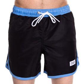 Frank Dandy Long Bermuda Swimshorts - Black/Blue * Kampanje *