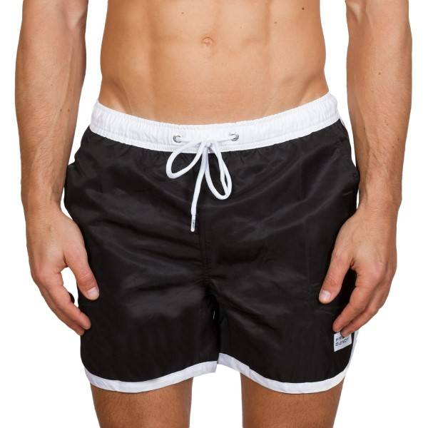 Frank Dandy Long Bermuda Swimshorts - Black/White * Kampanje *