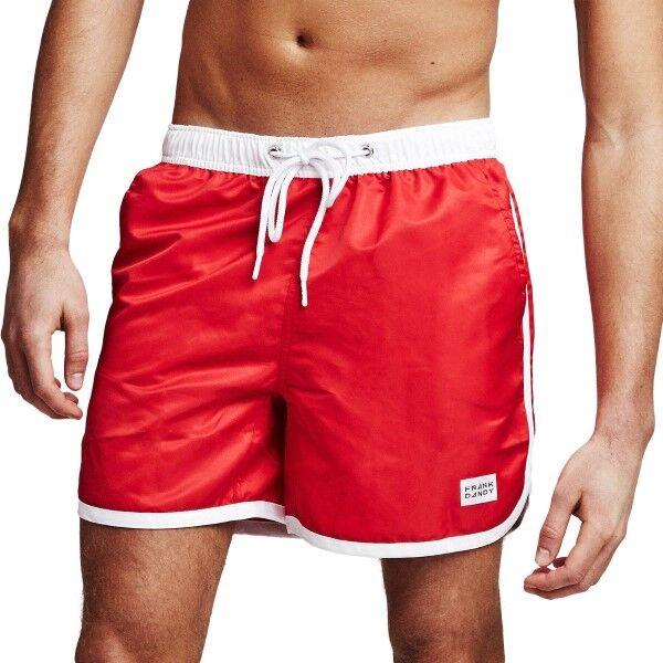 Frank Dandy Long Bermuda Swimshorts - Red/White