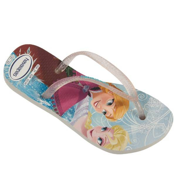 Havaianas Kids Slim Frozen Princess - White Pattern-2