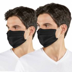 Falke 2-pakning Classic Community Face Mask With Nose Clip - Black