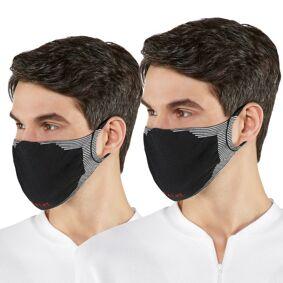 Falke 2-pakning Sporty Community Face Mask - Black