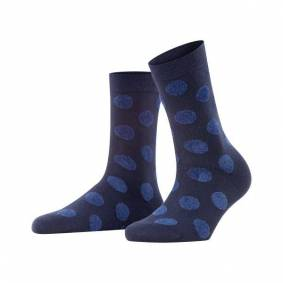 Falke Women Dot Fur Socks - Navy-2