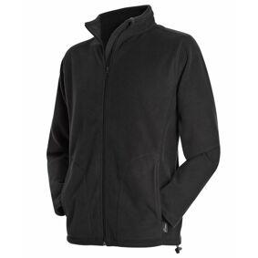 Stedman Active Fleece Jacket For Men - Black