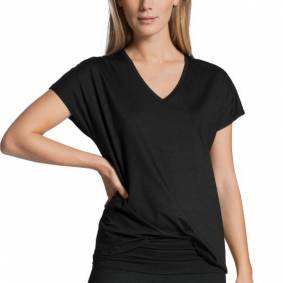 Calida Favourites Essentials Shirt Short Sleeve V - Black