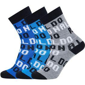 CR7 Cristiano Ronaldo 3-pakning Boys Socks - Blue Pattern