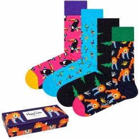 Happy socks 4-pakning Animal Gift Box - Mixed