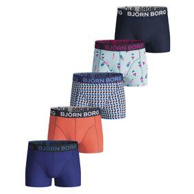 Björn Borg 5-pakning Cotton Stretch Shorts For Boys 215 - Blue Pattern