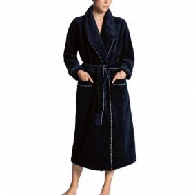Calida After Shower Bathrobe - Darkblue