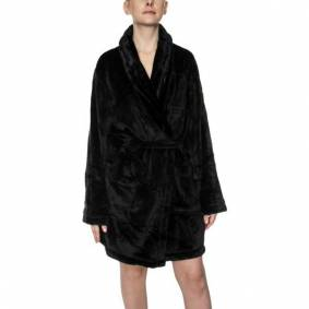 DKNY Signature Robe LS Folded - Black * Kampanje *