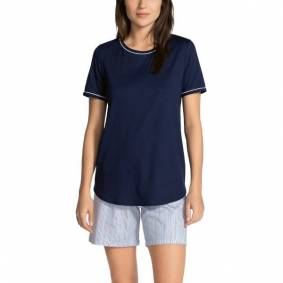 Calida Sweet Dreams Short Pyjama - Navy-2