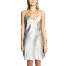 Lady Avenue Silk Satin Nightgown - Champagne