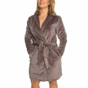 Decoy Women Stripe Robe - Brown