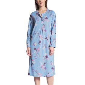 Calida Cosy Cotton Nightshirt Long Sleeve - Blue Pattern
