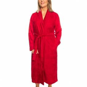 Trofé Trofe Bamboo Robe Long Sleeve - Red