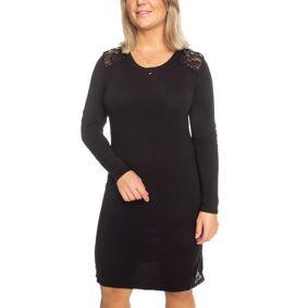 Trofé Trofe Modal Nightdress Long Sleeve - Black