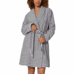 Triumph Lounge Me Climate Terry Robe - Greystriped