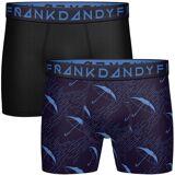 Frank Dandy 3-pakning Solid Boxer - Black/Blue