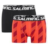 Salming 2-pakning Pipe Boxer - Black/Red