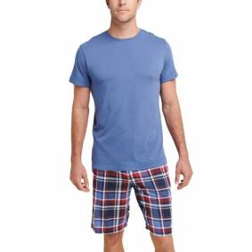 Jockey Night And Day Pyjama Short Sleeve 3XL-6XL - Navy/Red