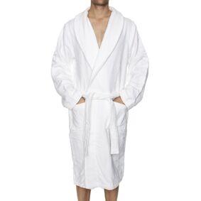 Calvin Klein Men Terry Logo Robe - White