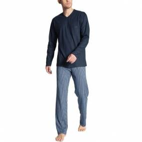 Calida Relax Imprint Pyjama - Blue