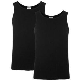 Resteröds 2-pakning Organic Cotton Tank Top Slim Fit - Black