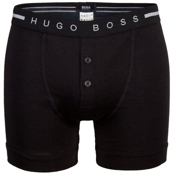 Hugo Boss Original Button Front Shorts - Black