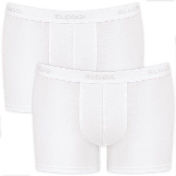 Sloggi 2-pakning For Men Short - White