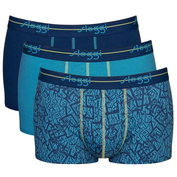 Sloggi 3-pakning Men Start Hipster C3P - Blue/Green