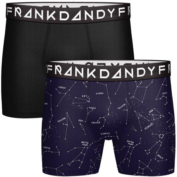 Frank Dandy 2-pakning Starsign Boxers - Black/Blue * Kampanje *
