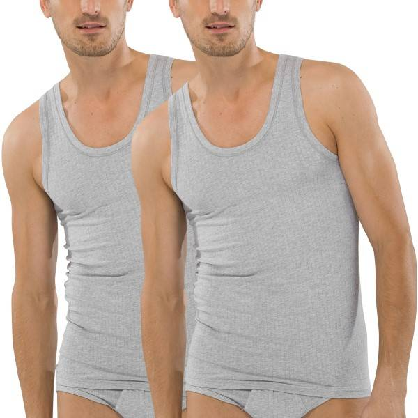 Schiesser 2-pakning Authentic Undershirts - Grey