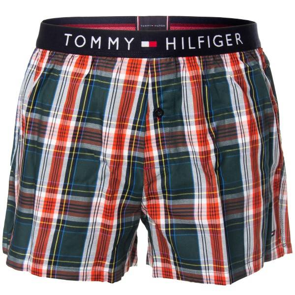 Tommy Hilfiger Original Cotton Woven Boxer - Red