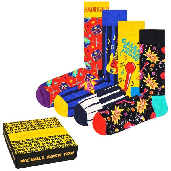 Happy socks 4-pakning Queen Gift Box Socks - Mixed