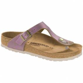 Birkenstock Gizeh Leather Washed Metallic - Pink