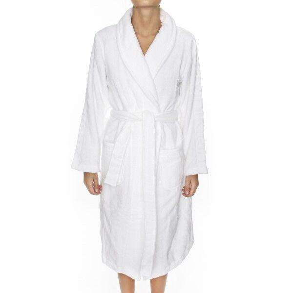 Calvin Klein Women Terry Logo Robe - White