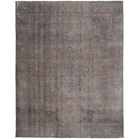 Håndknyttet. Opphav: Persia / Iran 289X372 Colored Vintage Teppe Ekte Moderne Håndknyttet Mørk Grå/Lys Grå Stort (Ull, Persia/Iran)