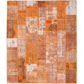 Håndknyttet. Opphav: Turkey Patchwork Teppe 254X301 Orange/Lysbrun Stort (Ull, Tyrkia)