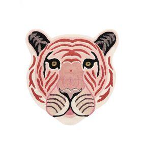 RugVista Barneteppe Me Tiger - Pink 100X100 Moderne Kvadratisk Ull Lyserosa/Beige
