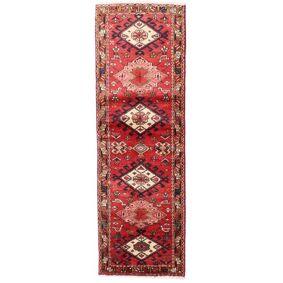 Håndknyttet. Opphav: Persia / Iran Hamadan Teppe 60X188 Teppeløpere Mørk Rød/Rust (Ull, Persia/Iran)