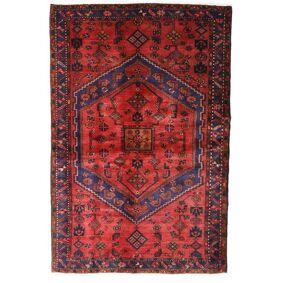 Håndknyttet. Opphav: Persia / Iran Hamadan Teppe 130X198 Ekte Orientalsk Håndknyttet Mørk Rød/Rust (Ull, Persia/Iran)