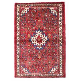 Håndknyttet. Opphav: Persia / Iran Håndknyttet Teppe Hosseinabad 105X156 Rød/Rust (Ull, Persia/Iran)