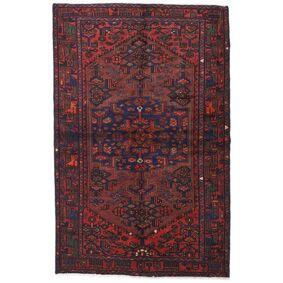 Håndknyttet. Opphav: Persia / Iran 130X200 Hamadan Teppe Ekte Orientalsk Håndknyttet Mørk Rød/Svart (Ull, Persia/Iran)