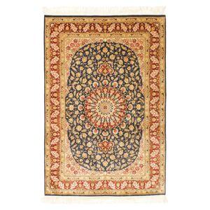 Håndknyttet. Opphav: Persia / Iran Persisk Ghom Silke Teppe 99X150 Mørk Beige/Hvit/Creme (Silke, Persia/Iran)