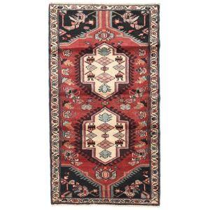 Håndknyttet. Opphav: Persia / Iran Persisk Hamadan Teppe 110X200 Mørk Brun/Mørk Rød (Ull, Persia/Iran)
