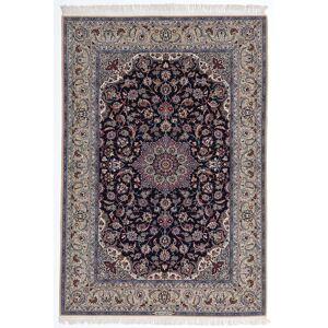 Håndknyttet. Opphav: Persia / Iran Håndknyttet Teppe Isfahan Silkerenning 160X235 Lys Grå/Mørk Lilla (Ull/Silke, Persia/Iran)